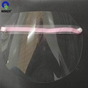 Transparent  PET Material Protective Plastic Face Shield Mask