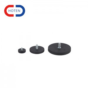 Rubber Magnet With Extemal Thread