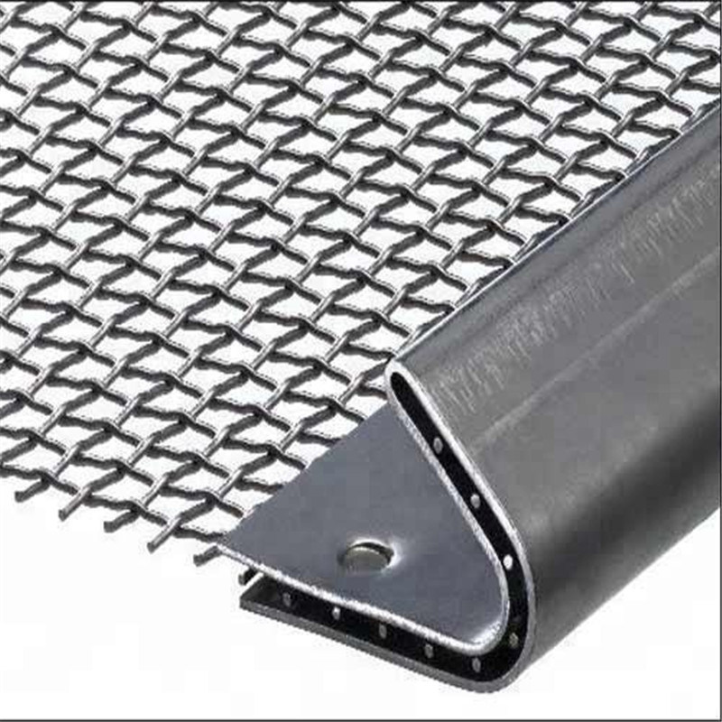 Rectangular Hole Woven Screen Wire Mat for Mining and Quarry