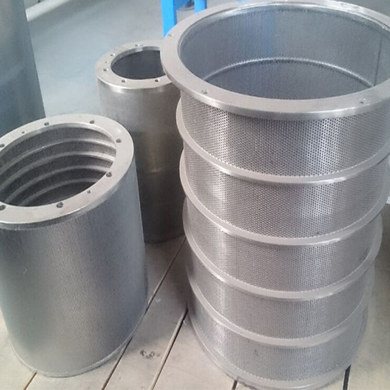 SUS 304 or 316 Screen Cylinder for Pulp System with Hole Type