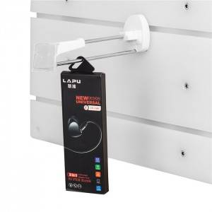 Hyb-HA-C Security hook with slatwall bottom