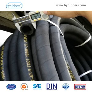 Hot water hose with fabric insert roct 18698-79