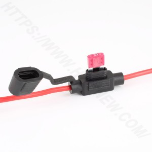 In line car fuse holder,Small,PVC,H3-80 | HINEW