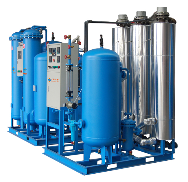 Introduction of equipment for purification of nitrogen and hydrogen