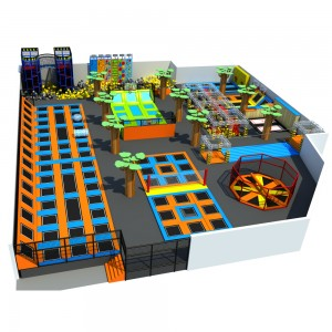 Factory custom indoor playground kids trampoline park for sale
