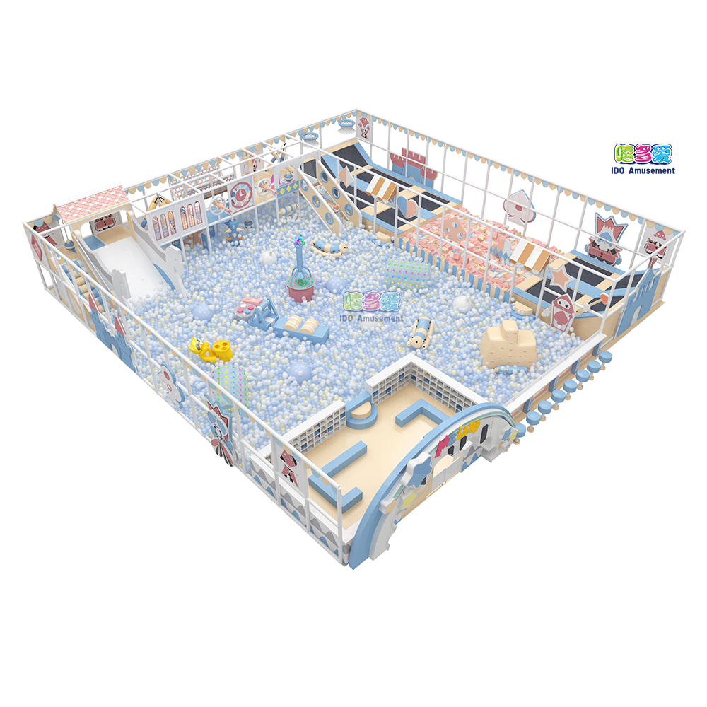 Custom Made Children's Playhouse Indoor Playground Dry Pool with Balls Trampoline Park Soft Play Equipment Million Ball Pool