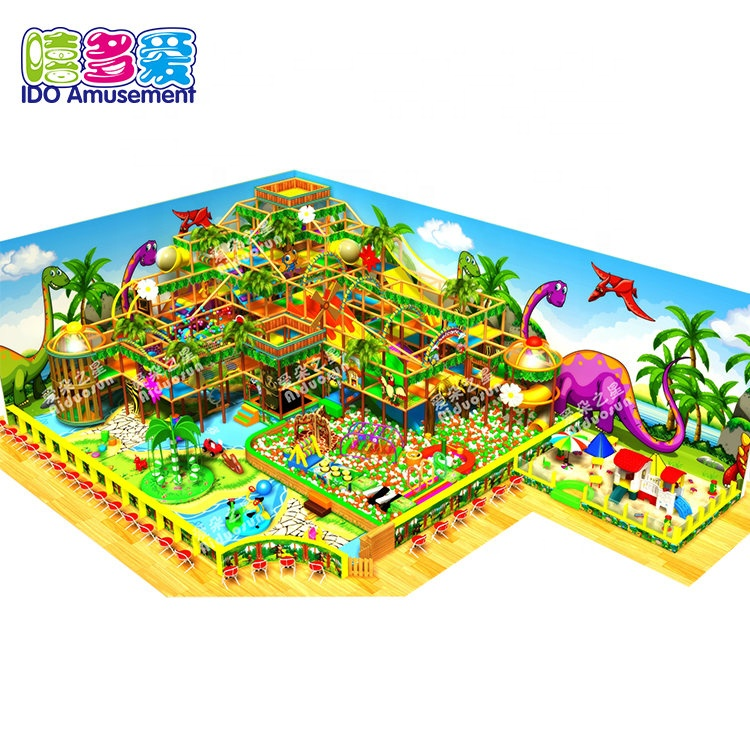 Commercial Large Indoor Playground Jungle Theme