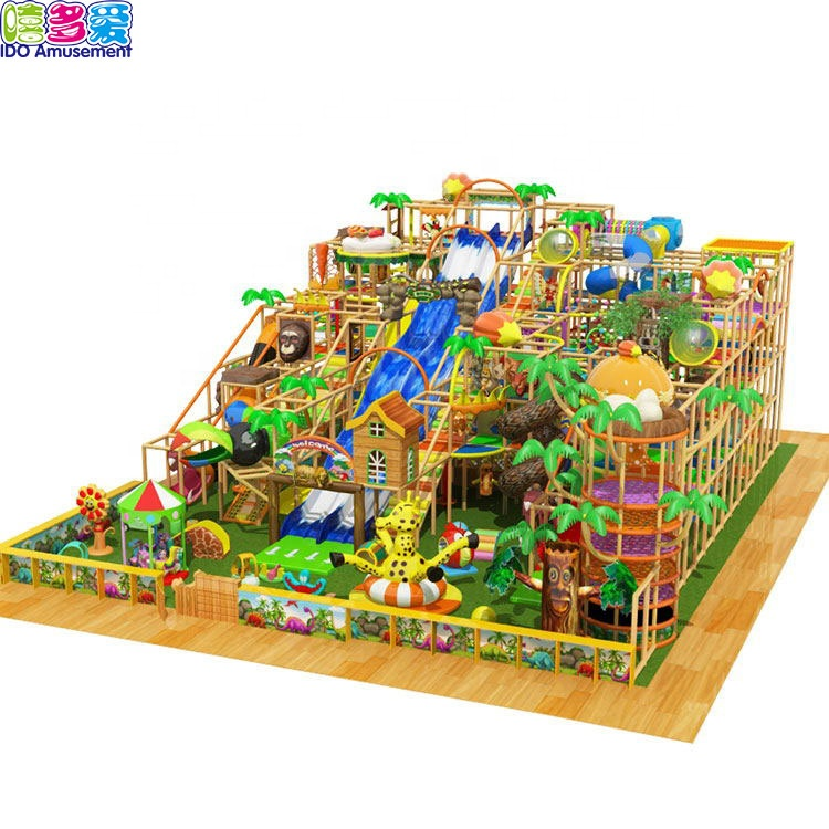 China Cheap price Jungle Inflatable Obstacle Course – Jungle gym indoor playground equipment for children – IDO Amusement