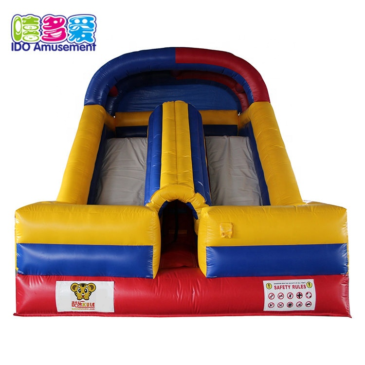 Custom Made 5*4*5M Commercial Inflatable Bounce And High Slide For Sale