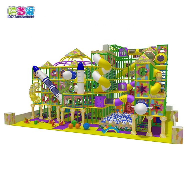 IDO Delicate Indoor Playground Kids Equipment With Slide And Ball Pool