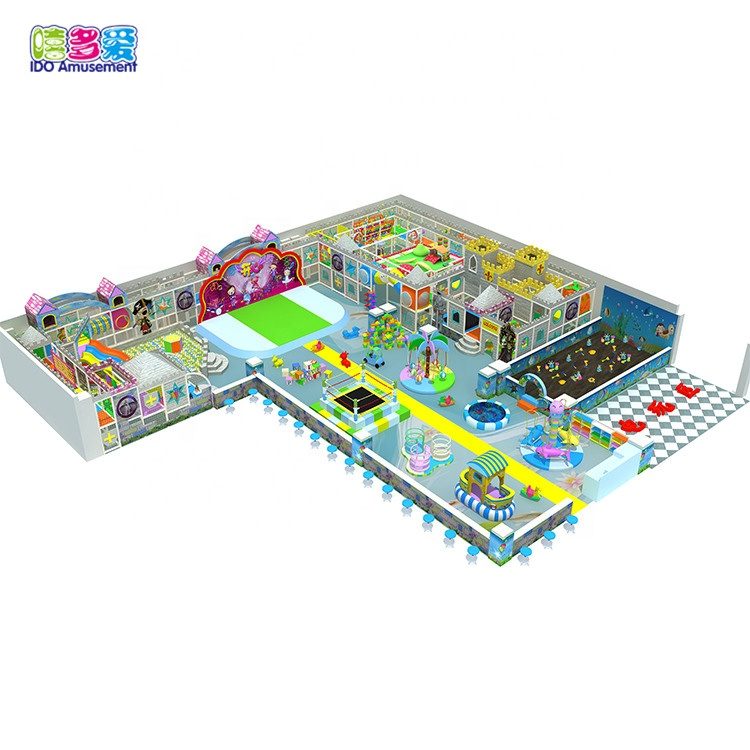 2019 New Design ocean theme kids indoor used playground equipment sale