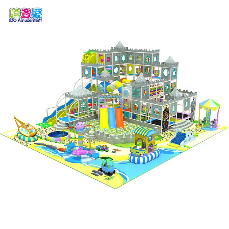 IDO fence colorful ocean theme mcdonalds indoor playground with slide
