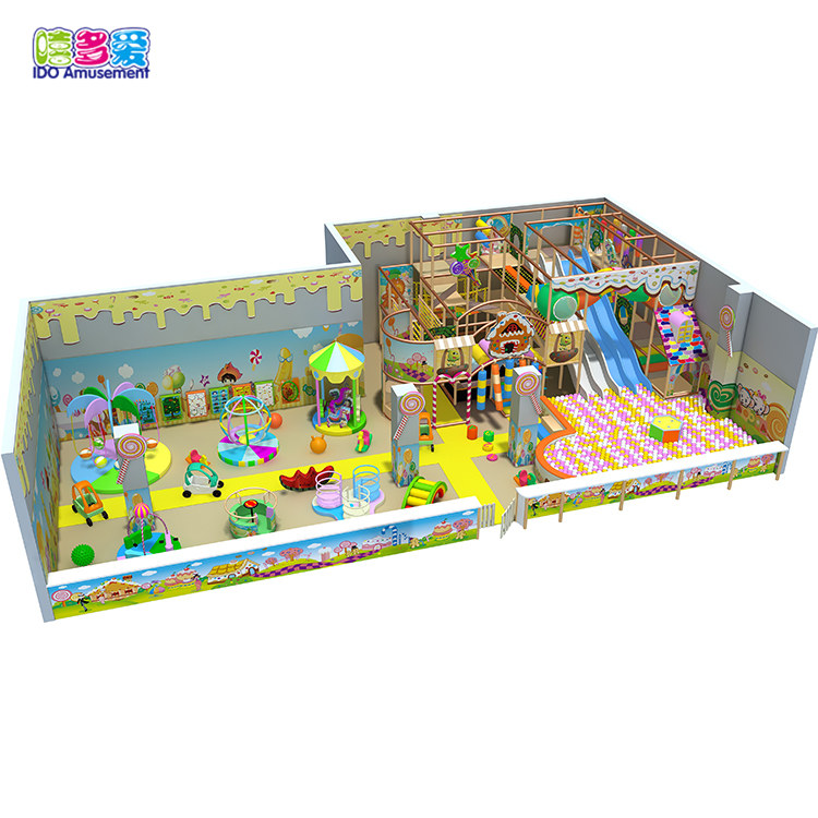 IDO candy theme mcdonads indoor playground for sale
