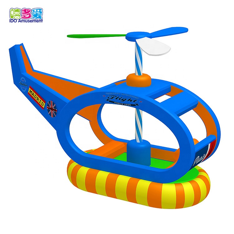 Manufacturer for Softness Electrical Playground - Helicopter-shape Swing Boat Electric Indoor Playground Inflatable Soft Play Equipment Outdoor Playhouse Bounce Area Hot Kids – IDO Amusement