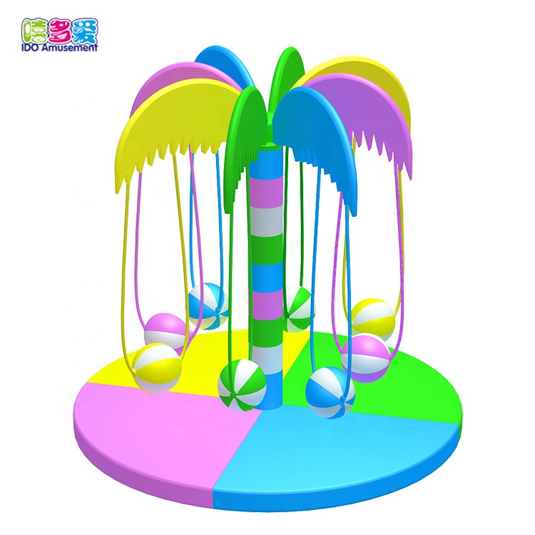 2019 Good Quality Soft Play Electric Toys - Children Play Toys Coconut Tree Rocking Ball Soft Play Turntable Commercial Kids Indoor Playground Electric Equipment – IDO Amusement