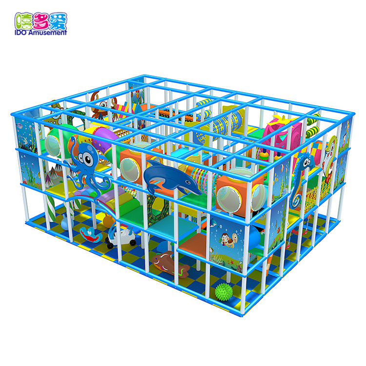 Fence colorful ocean theme baby kindergarten commercial indoor playground