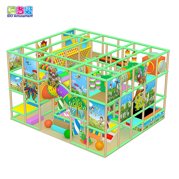 New design forest theme small area children indoor playground