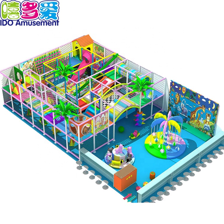 ODM 100 Sqmeter Baby Soft Play Playground Equipment Maze