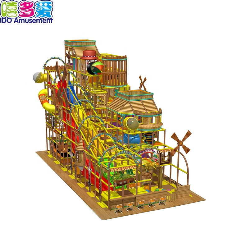 Best Selling Cheap And Colorful Wood Indoor Playground Equipment For Kids