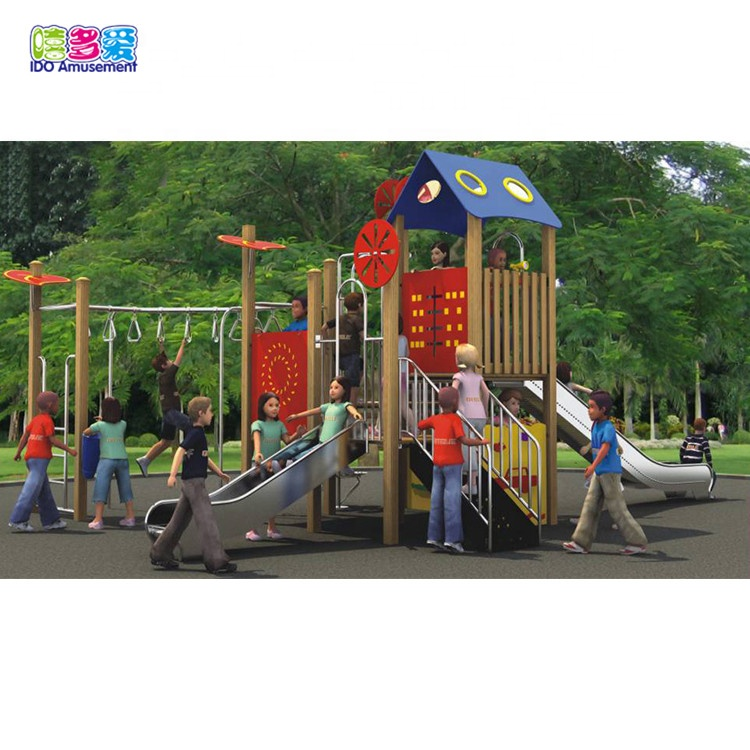 High Quality Wooden Playground Equipment Outdoor – Custom Commercial Playground Equipment Sets For Kids – IDO Amusement