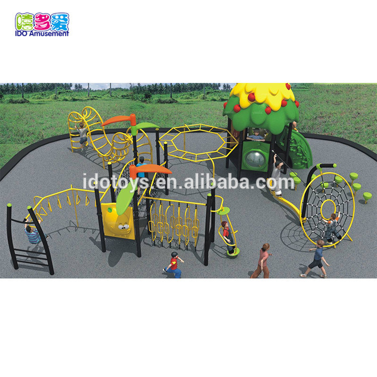 High Quality Wooden Playground Equipment Outdoor – Kids Garden Park Soft Outdoor Playground Equipment With Net Climbing – IDO Amusement