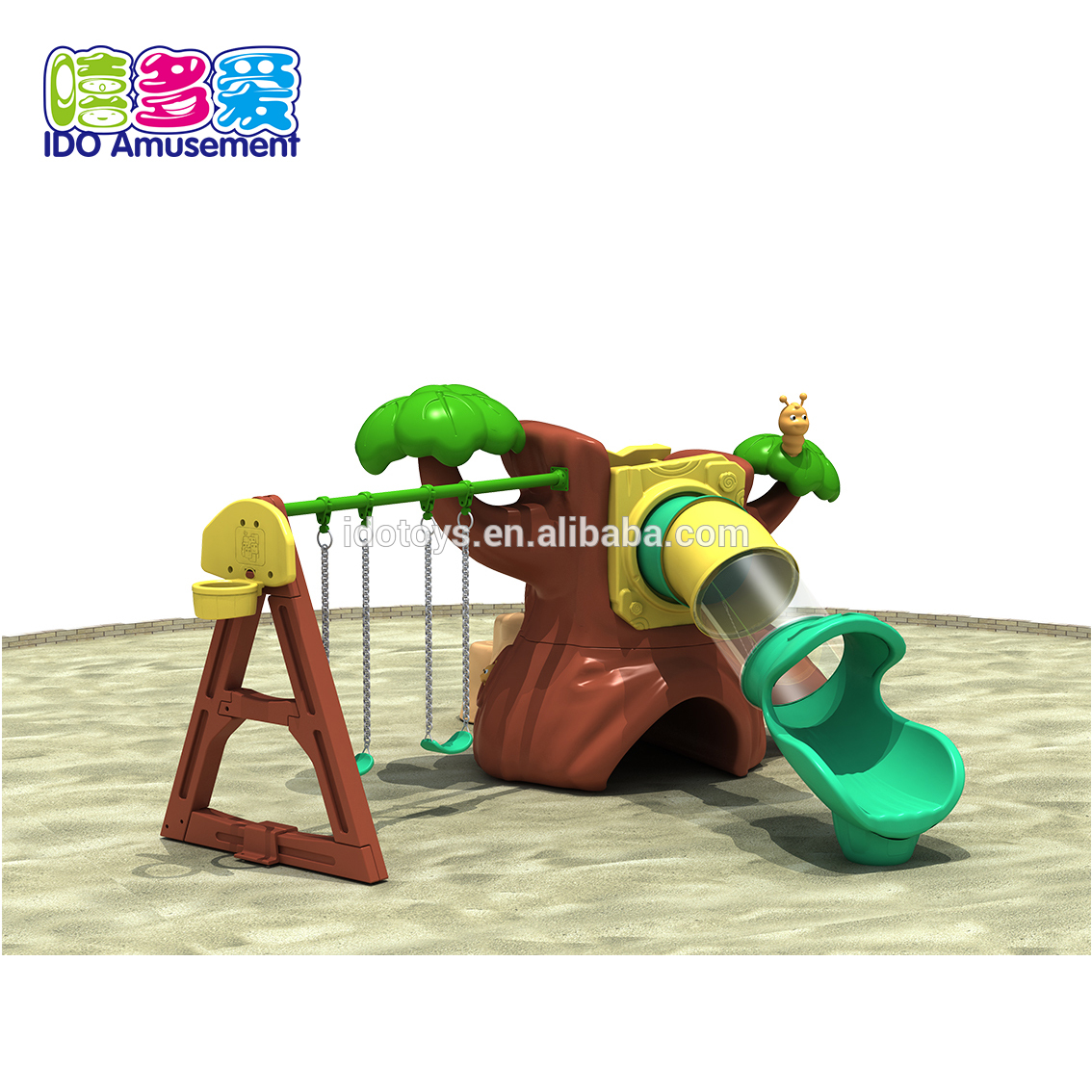 High Quality Wooden Playground Equipment Outdoor – Plastic Playground Slides,Mini Plastic Playground Slide Set – IDO Amusement
