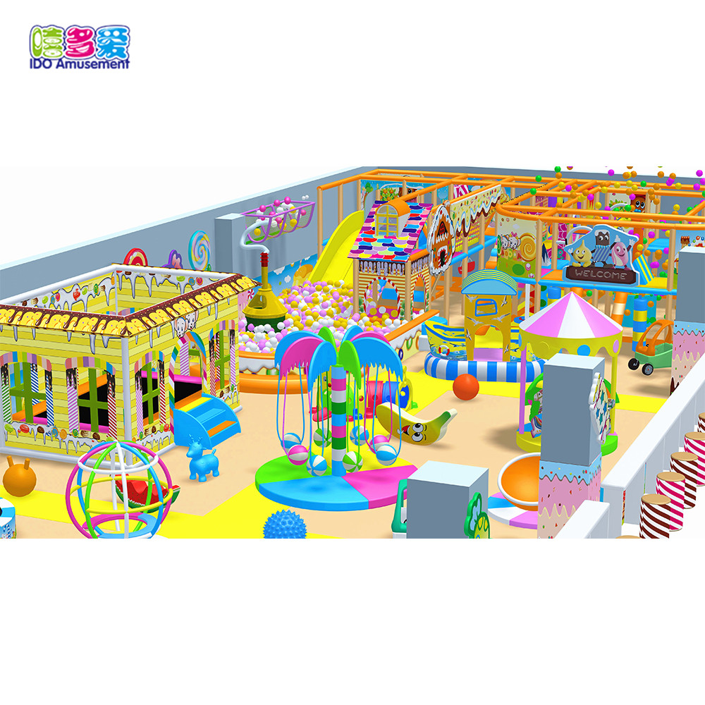 Eco-Friendly Guangzhou Candy Kids Playground Equipment Indoor