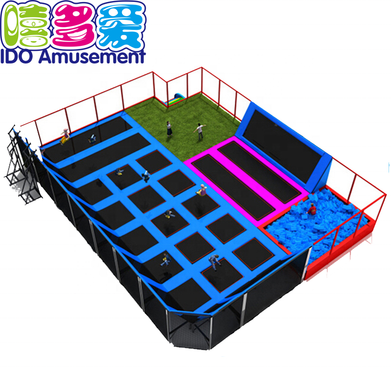 Ido Amusements Best Play Zone Large Customized Size Turkey Bounce Indoor Trampoline Park