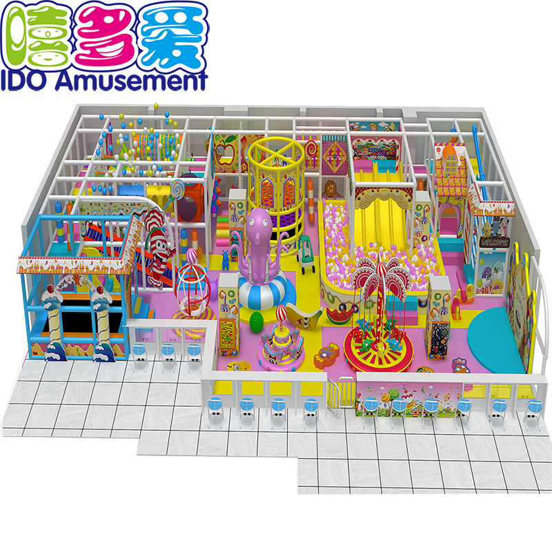 Indoor kids playground for amusement park with indoor playground rides and block area