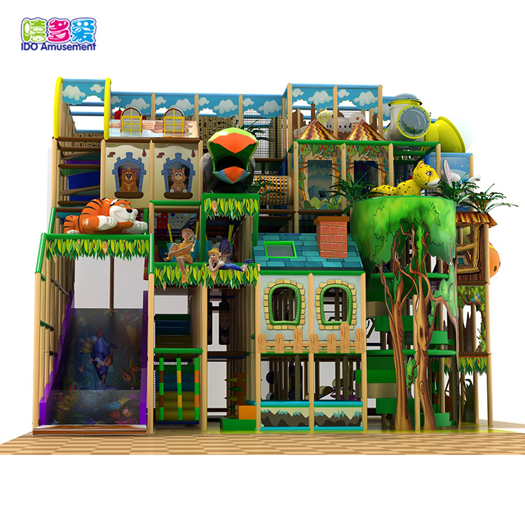 2019 Good Quality Indoor Playground Soft Play Area - Shopping Mall Playground Indoor,Kids Tree House Indoor Playground Maze – IDO Amusement