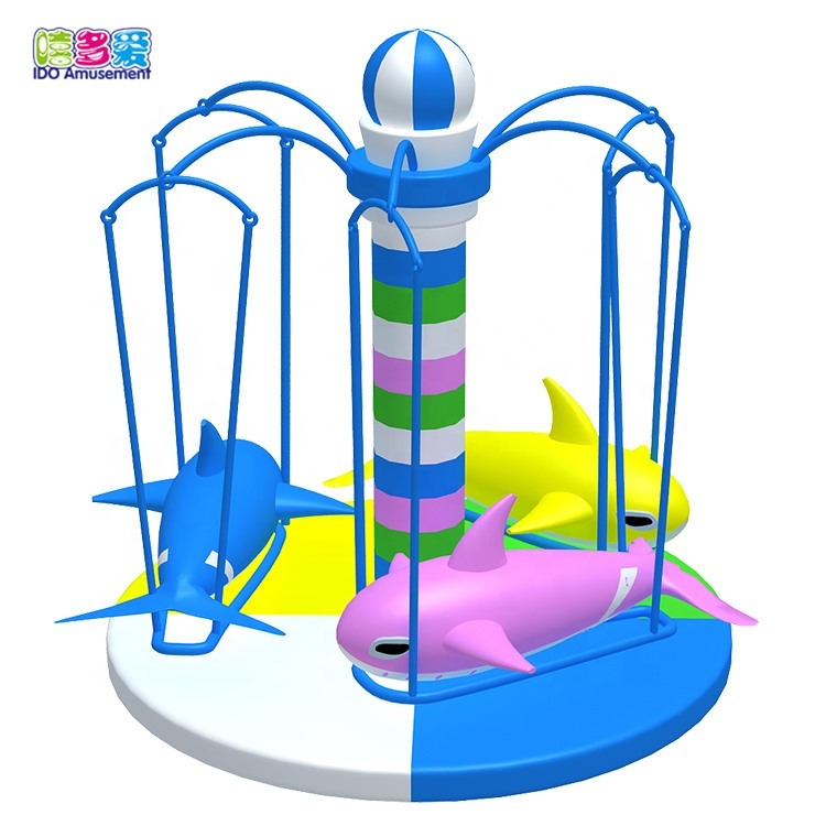 Indoor And Outdoor Dolphin Seat Playground Swing For Children