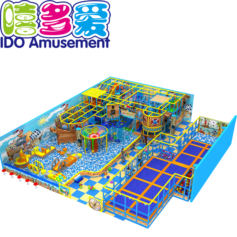 Guangzhou IDO Combination Trampoline Equipment Kids Indoor Playground