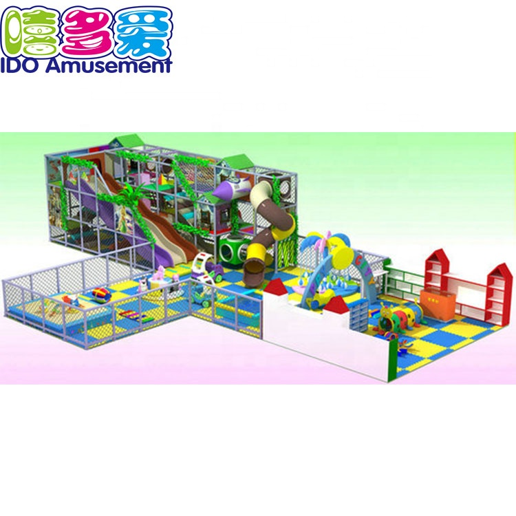Professional China Commercial Jungle Indoor Playground - Ecofriendly Indoor Jungle Themed Playground Slide Equipment – IDO Amusement