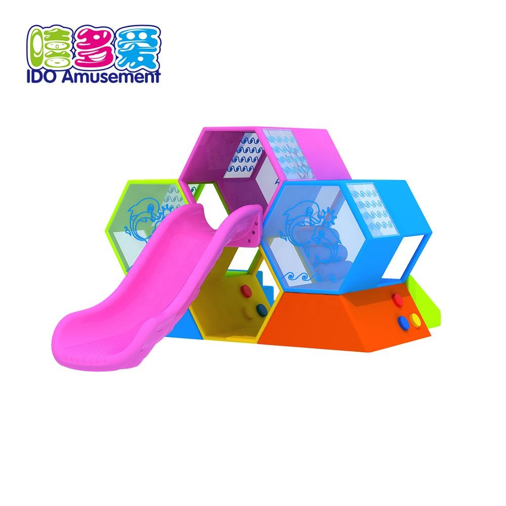 High Quality Wooden Playground Equipment Outdoor – Kids Amusement Park Attractive Children Outdoor Garden Honeycomb Structure Playground Slide Equipment – IDO Amusement