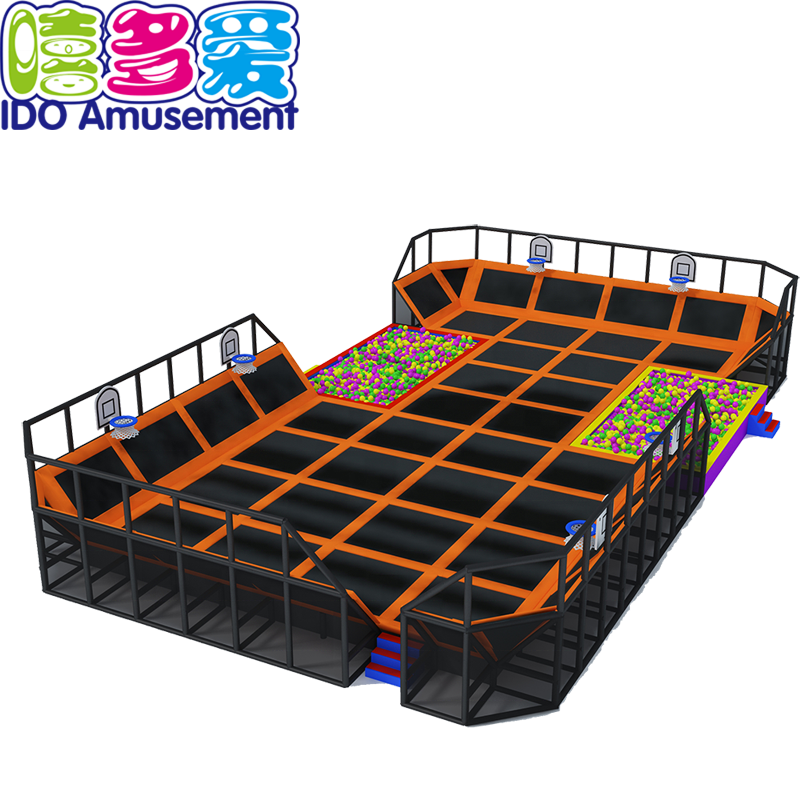 Spider Trampoline Tower in Trampoline Park Mini Indoor Playground