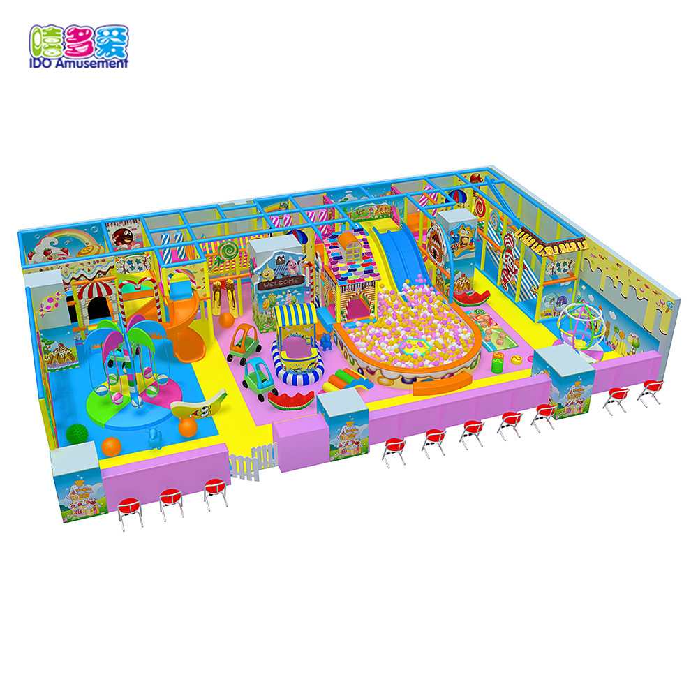 Hot Sale Candy Theme Kids Entertainment Equipment Soft Indoor Playground