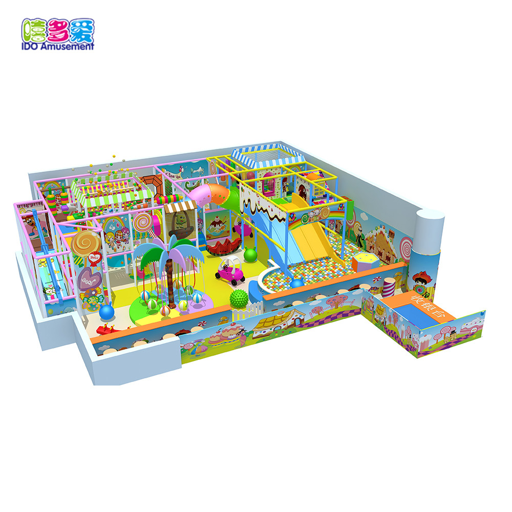 Ido Amusement Candy Theme Kids Soft Indoor Playground Equipment Small With Ball Pool