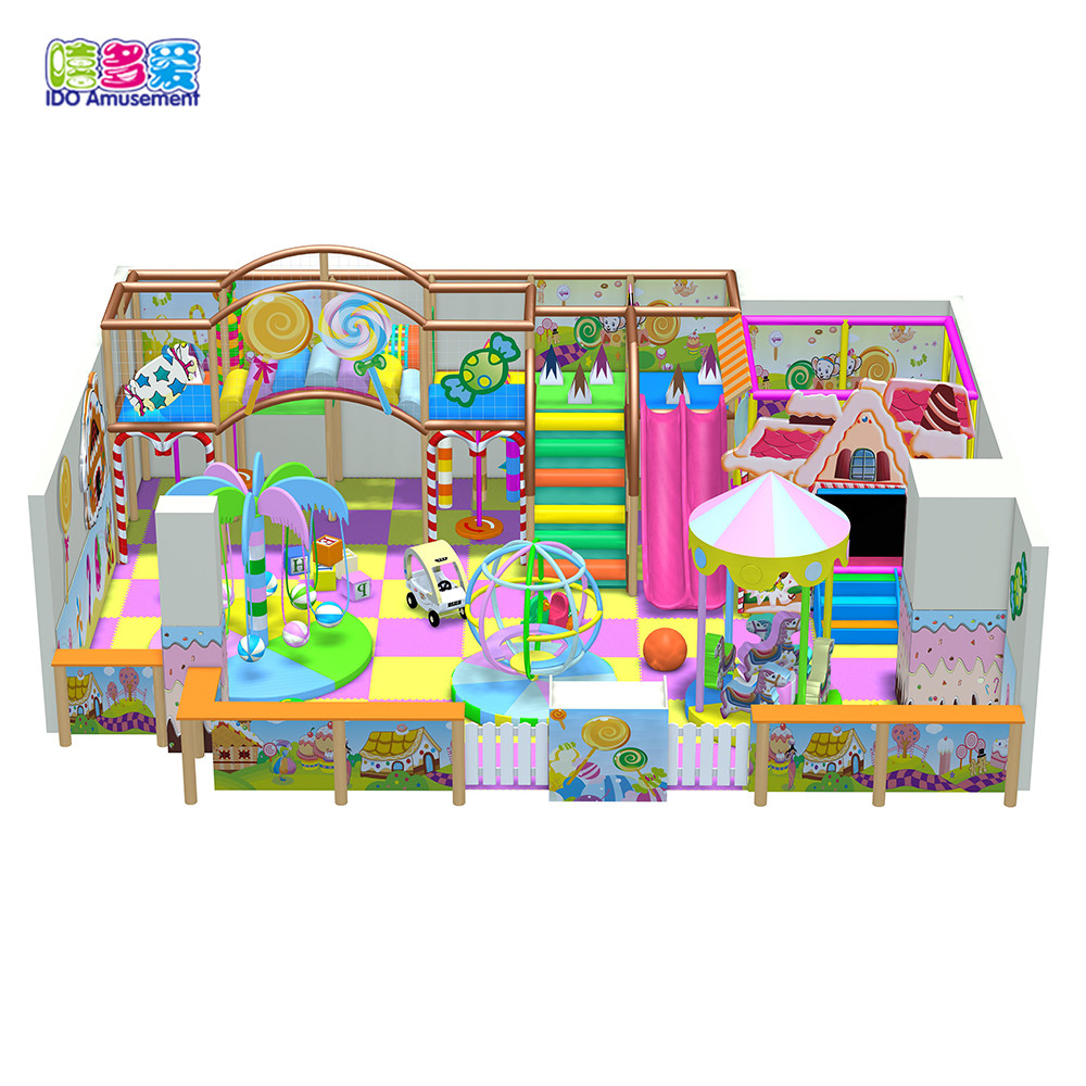 Candy Theme Mini Indoor Playground Systems For Toddlers