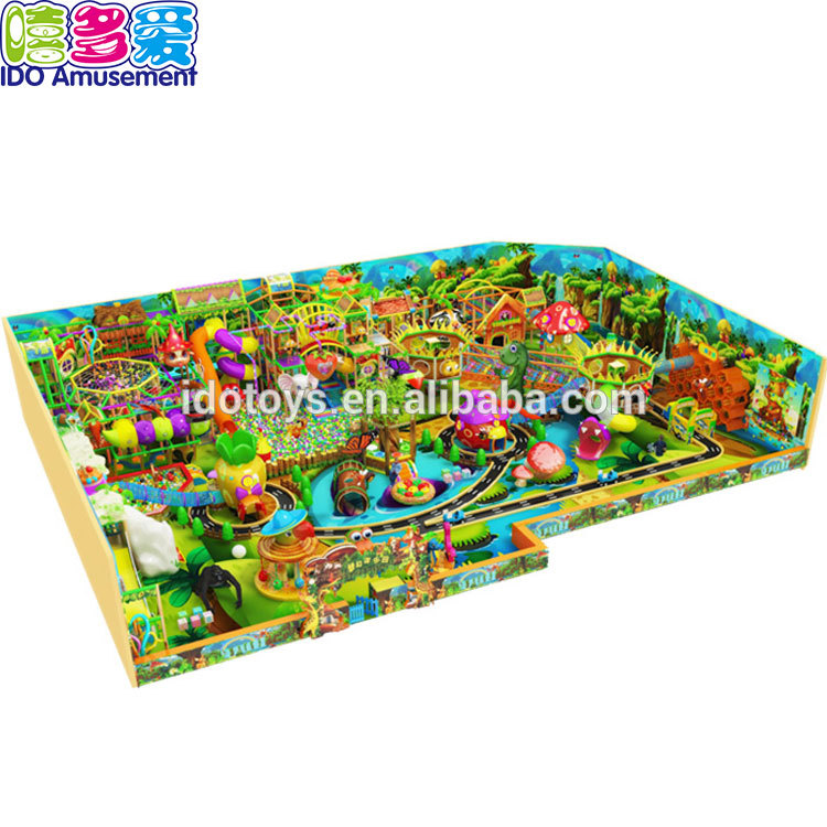 Entertainment Forest Style i loko o Treehouse Kahi I Wooden Playground No ka Kids Picture 1