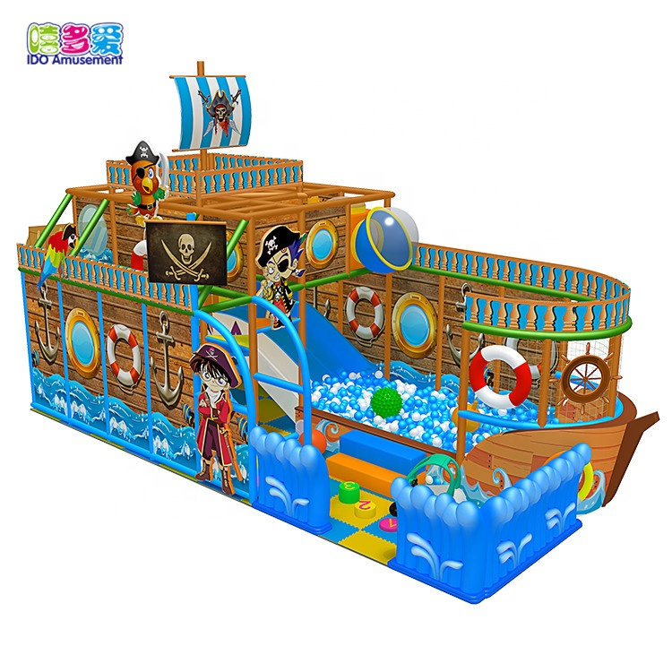 High Quality Indoor Playground Pirates – Indoor Play Pirate Ship Theme Modular Plastic Kids Indoor Playground – IDO Amusement