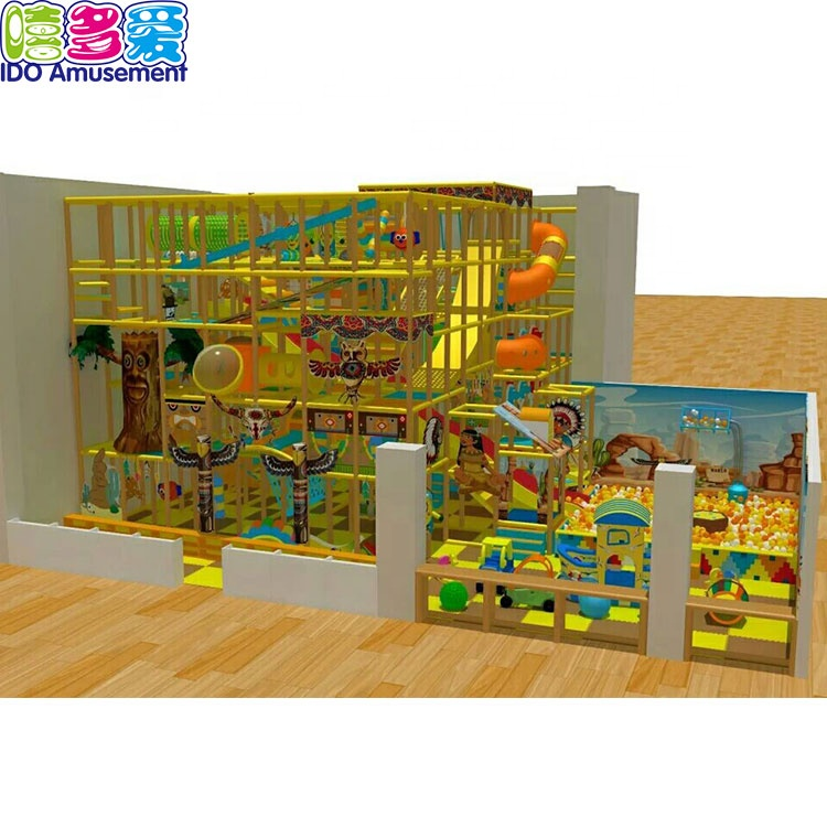 Ido Amusement New Design Kids Game Forest Indoor Playground Wooden