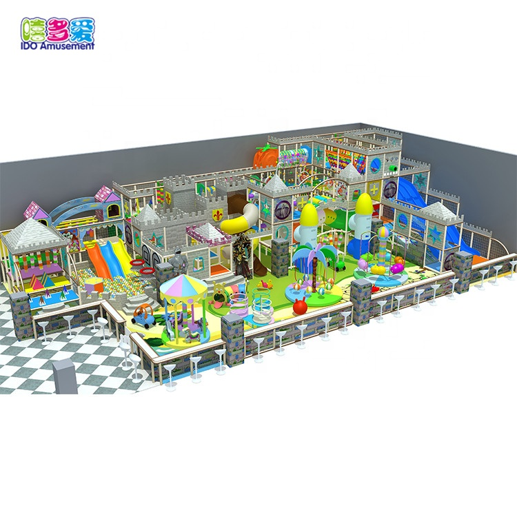 Jungle farm theme mini naughty castle kids play toys indoor playground