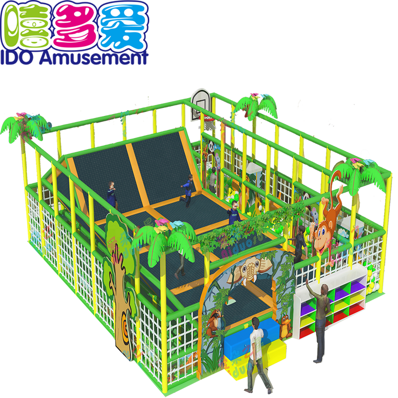 China Steel Spring Mat Canopy Outdoor Trampoline Park