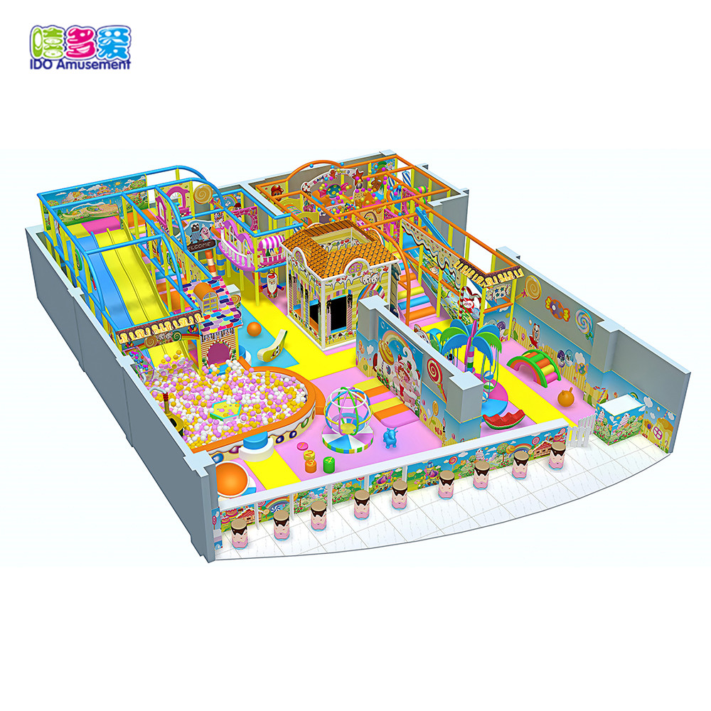 Candy Theme Indoor Amusement Playground Business For Sale For Children