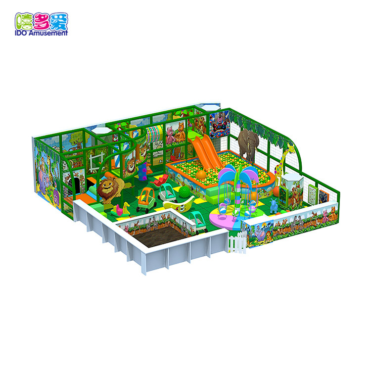 3D Model Indoor Playground Wooden Jungle Gym