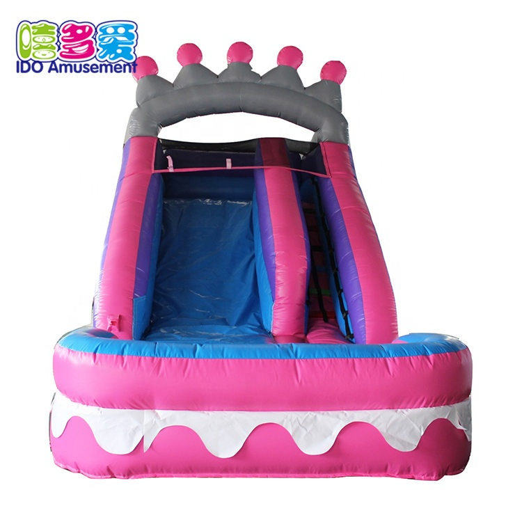 Slide Water Inflatable,Princess Theme Outdoor Inflatable Bounce House With Water Slide For Sale
