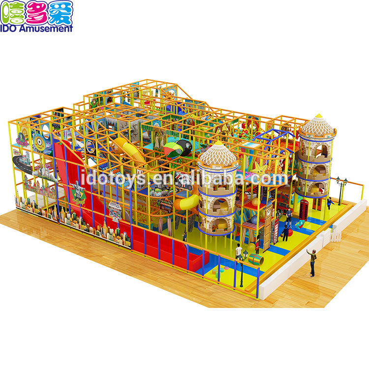 Good Quality Jumping Castles - Commercial Castle Style Children Large Indoor Playground With Slide – IDO Amusement