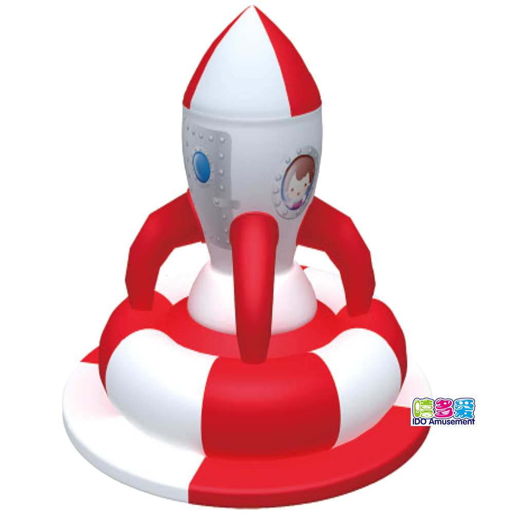 China Cheap price Electric Indoor Soft Play For Kids - Rocket-shape Inflatable Turntable Electric Indoor Playground Kids Soft Play Equipment Outdoor Playhouse Bounce Area Hot Sales – IDO Amu...
