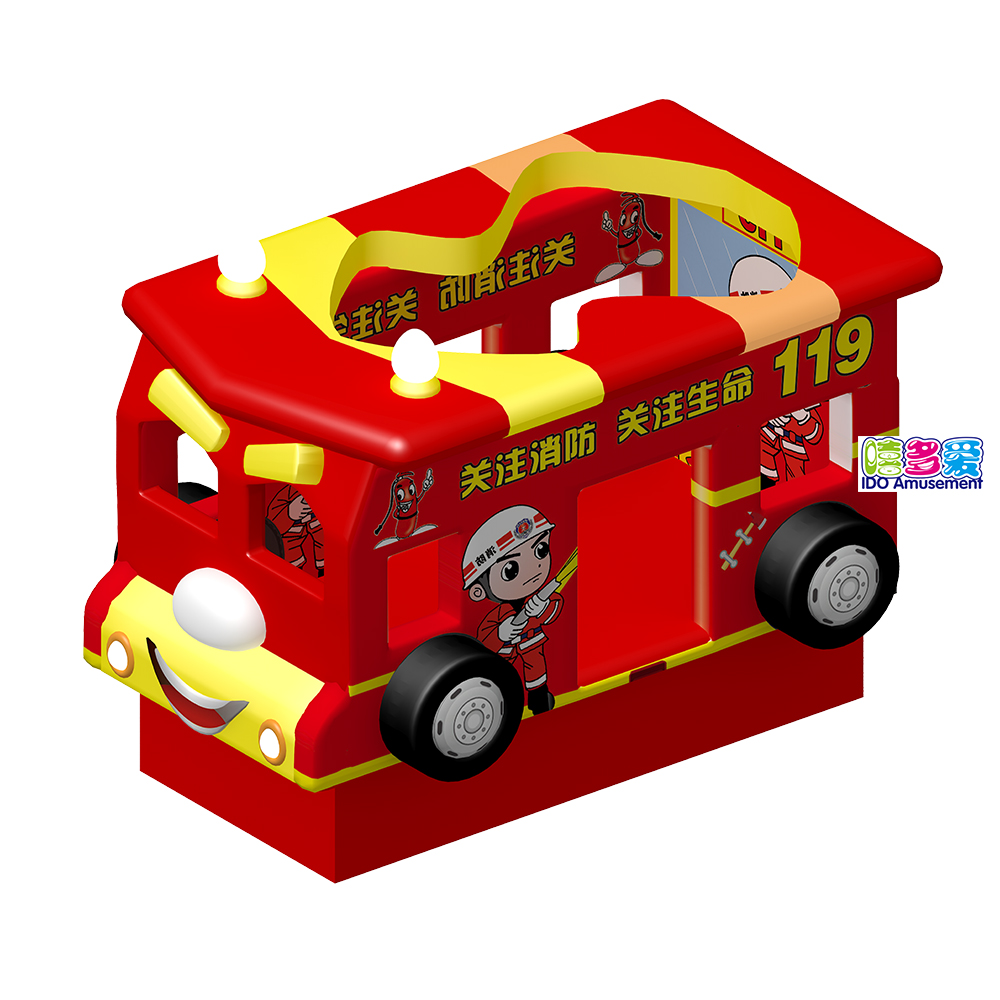 Factory Cheap Hot Electric Soft Play Equipment – Electric Fire Truck Swing Indoor Playground Soft Play Equipment Hot Sales for Kids – IDO Amusement