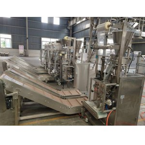 Washing Powder Sachet Packing Machine-Myanmar Manual Secondary Packing Line For 6sets of Sachet Packing Machine+2sets of Sewing Line
